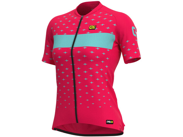 Alé Cycling PRR Stars SS Jersey Women, strawberry/turquoise